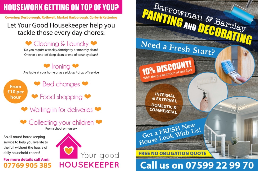 your-good-housekeeper-bnb-flyers